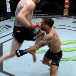 How did Cory Sandhagen knock out Frankie Edgar